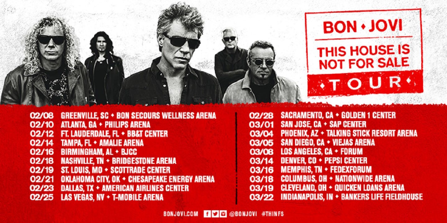 Bon Jovi tour to launch February 2017