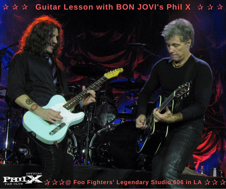 Guitar lesson with Phil X @ Foo Fighters' Studio 606 in LA