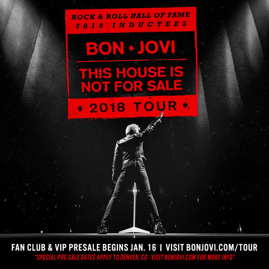 Bon Jovi tour dates in North America this Spring