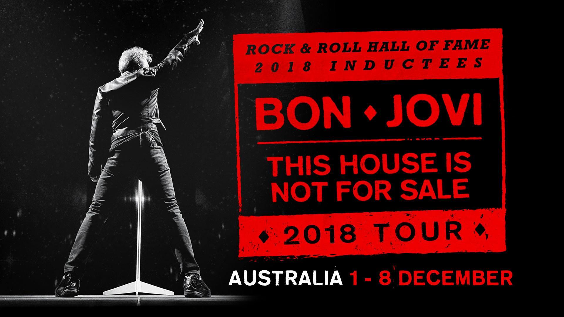 Bon Jovi Australian Tour, December 2018