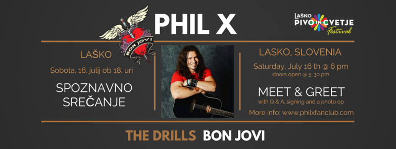 Phil X Meet & Greet @ Lasko Beer and Flowers Festival July 16