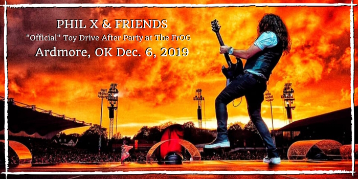 Phil X & The Drill concert in Ardmore, OK 2019.