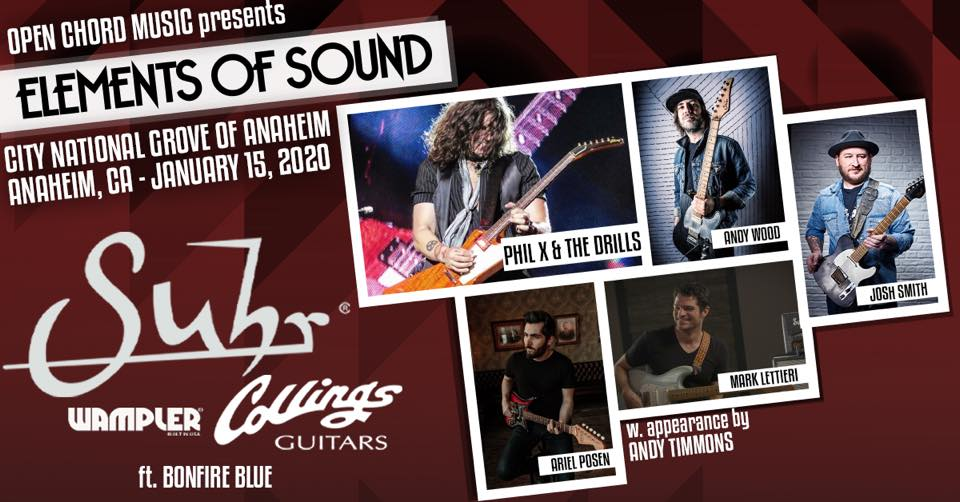 Phil X & The Drills attend Elements of Sound at NAMM 2020.
