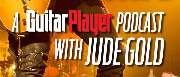 A guitar player podcast with jude gold promo flier.