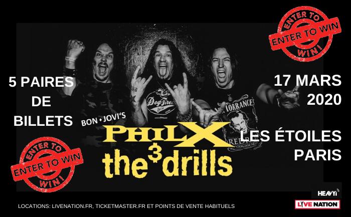 Phil X & The Drills concert in Paris 2020 advert.