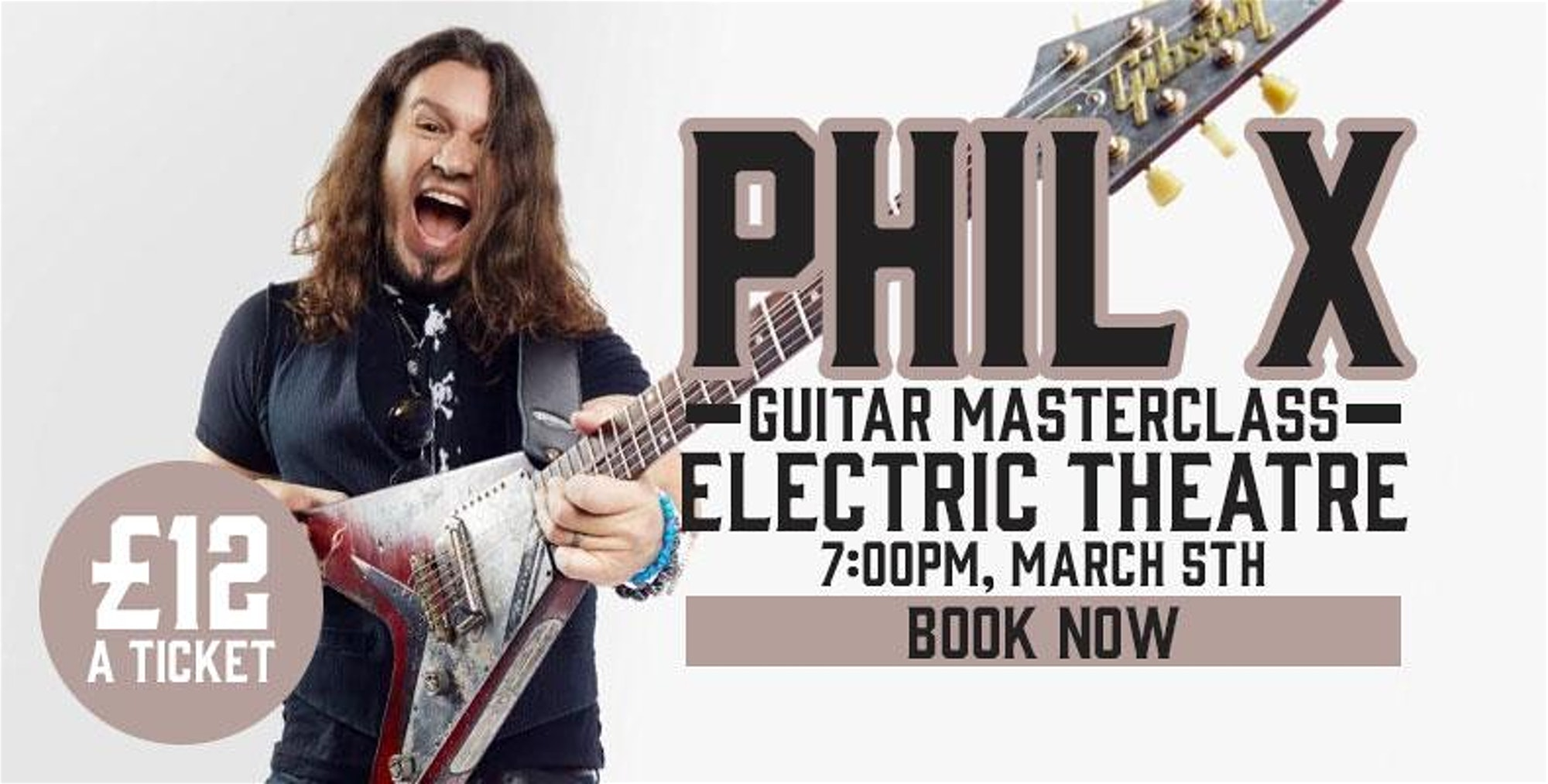 Phil X Masterclass in guilford, UK advertising 2020.