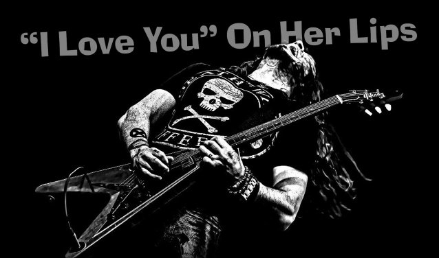 cover of music single I Love You On Her Lips by Phil X & The DRILLS.